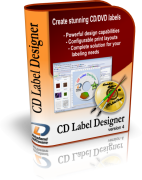 CD Label Designer box shot - CD/DVD label maker software